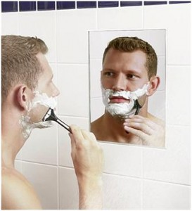 """How can he shave in the morning?"""