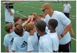 JImmy Graham volunteering with the community