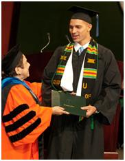 Graham graduating from the University of Miami